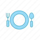 cutlery, eating, fork, kitchen, knife, tableware icon