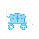 box, product, transport, trolly