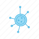 bacterial, disease, virus icon