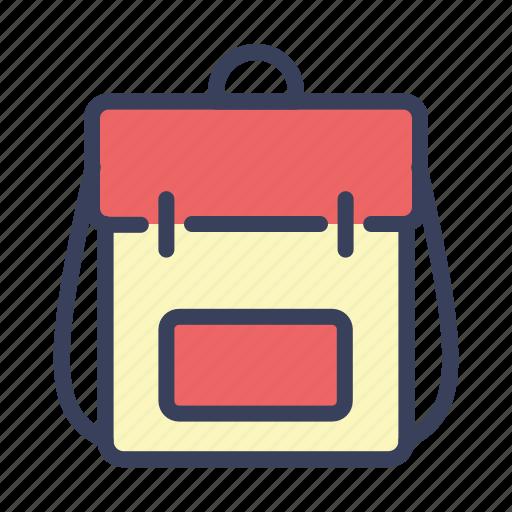 backpack, bag, ransel, rucksack, school icon