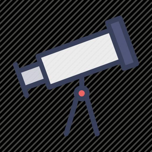 astronomy, lens, star gazing, telescope icon