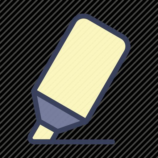 emphasize, marker, pen, stabilo icon