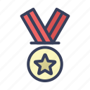 achievement, gold, medal, reward icon