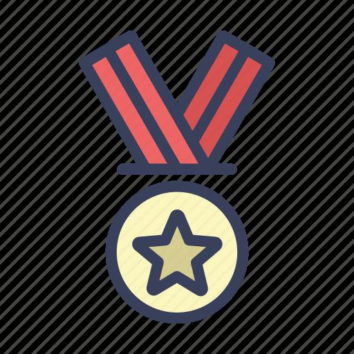 achievement, gold, medal, reward icon