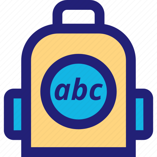 abc, back, elementary, pack icon