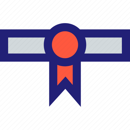 award, diploma, ribbon icon