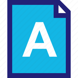 assignment, homework, letter icon