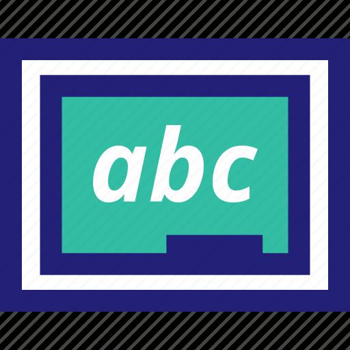 abc, board, chalk, learning icon