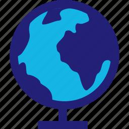 class, globe, travel, world icon