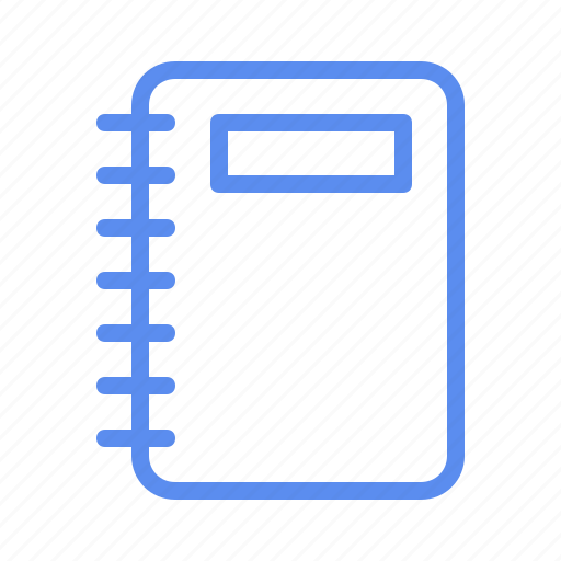 book, diary, notebook, school, write icon