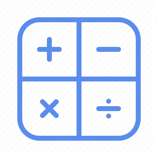 calculator, counting, numeracy tools, school, stationery icon