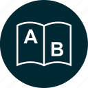 ab, book, education, school icon