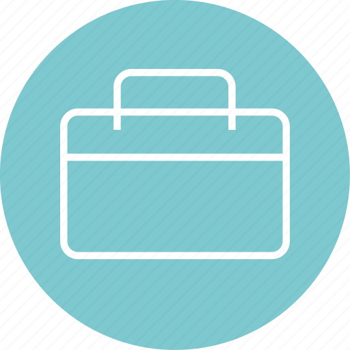 briefcase, case, learning icon