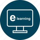 e, learn, learning, online icon