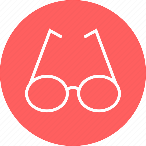 education, glasses, learn icon
