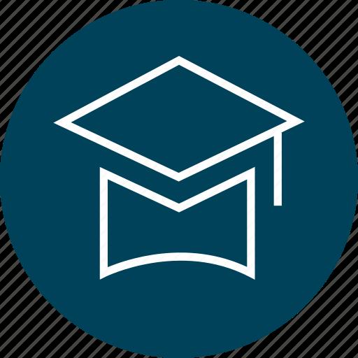 cap, graduation, senior, student icon
