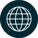 globe, internet, learning icon