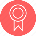 award, learning, ribbon icon
