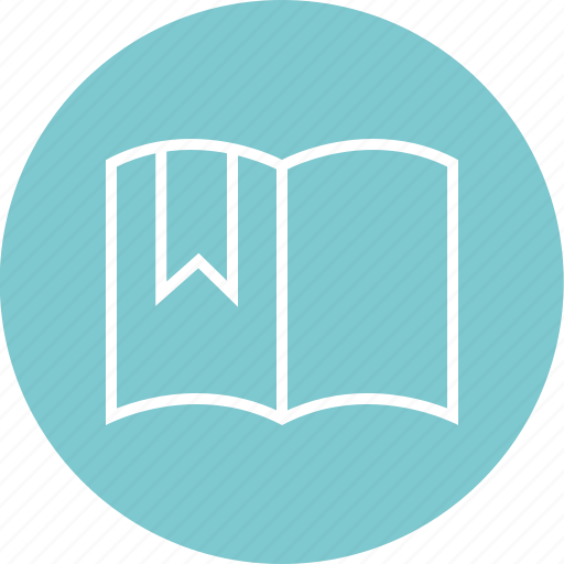 book, open, ribbon icon