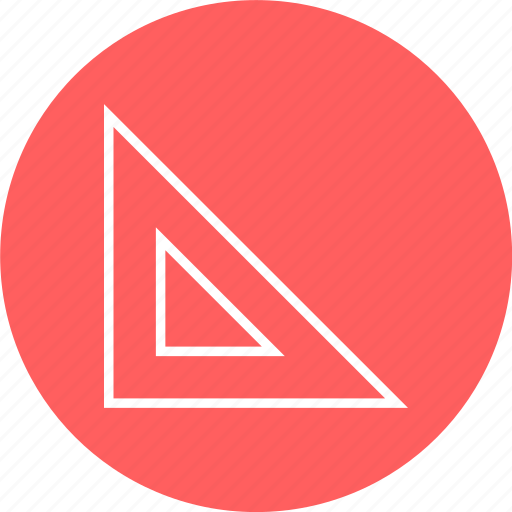 angle, learning, ruller icon