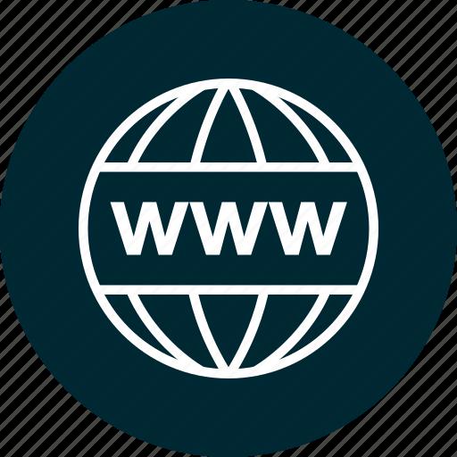 education, wide, world, www icon