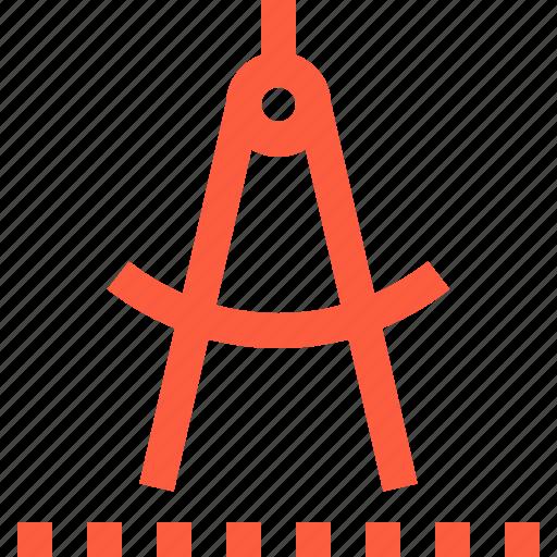 caliper, compass, divider, measuring, tool, trammel icon