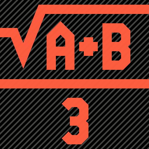 algebra, education, formula, function, math, mathematics icon