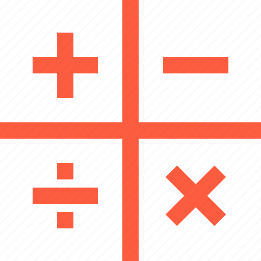 addition, divide, division, education, math, multiplication, subtraction icon