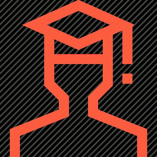 avatar, education, graduate, graduation, profile, student, university icon