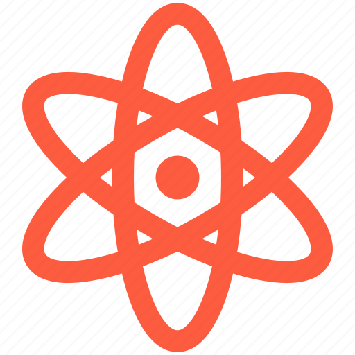 atom, energy, nucleus, particle, physics, science, trajectory icon