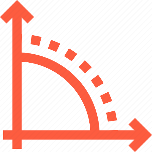 arrow, axis, axle, direction, function, graph, pointer icon