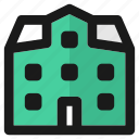building, city, class, education, house, office, school icon