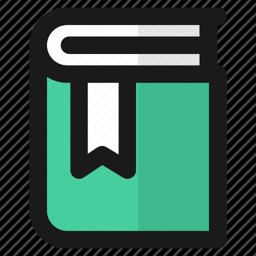 book, bookmark, education, reading, school, student, study icon