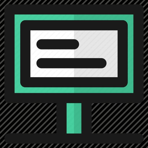 computer, desktop, display, education, laptop, school, screen icon