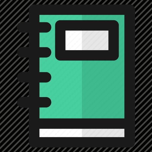 book, education, file, note, paper, school, write icon