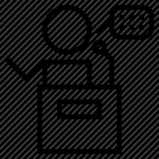 speaker, talk icon