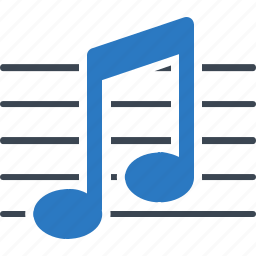 audio, musical note, sheet music icon