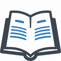 library, literature, reading, school book icon