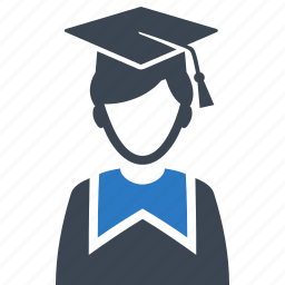 education, graduate, mortar board, student icon