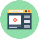 media player, media website, online media, online video, video streaming icon