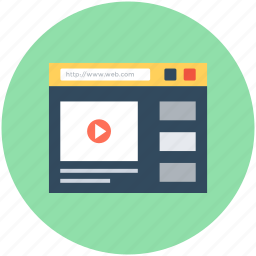 media player, media website, online media, online video, video streaming icon
