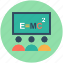 classroom, education, einstein formula, physics class, physics formula icon