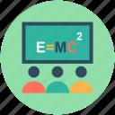 classroom, education, einstein formula, physics class, physics formula icon