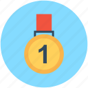 first place, first position, medal, prize, position medal icon