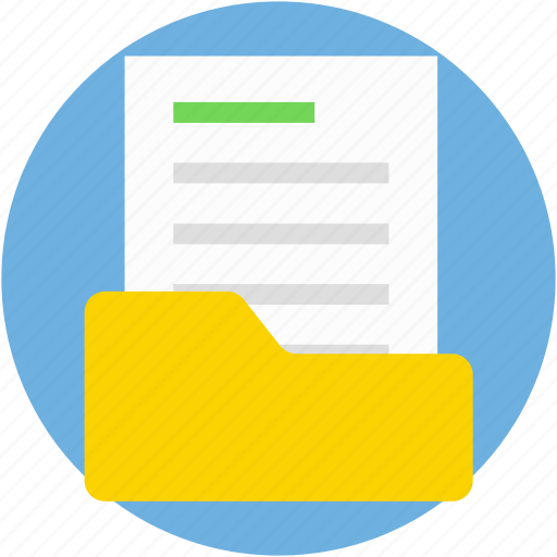 document folder, documents, extension, folder, office material icon