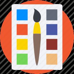 art, artist, paint brush, paint palette, painting icon