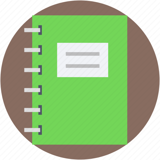 jotter, memo book, notepad, scratch pad, writing pad icon