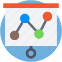 analytics, diagram, infographics, line chart, progress graph icon