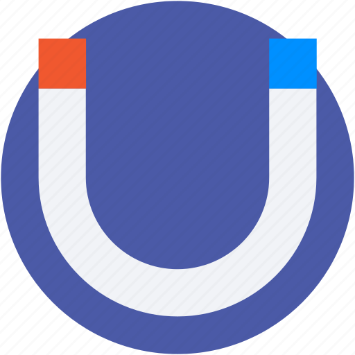horseshoe magnet, magnet, magnetic field, magnetism, physics icon