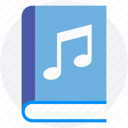 audio literature, audiobook, ebook, music book, music education icon